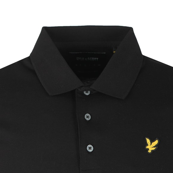 Lyle and Scott Mens Black Mercerised Polo Shirt
