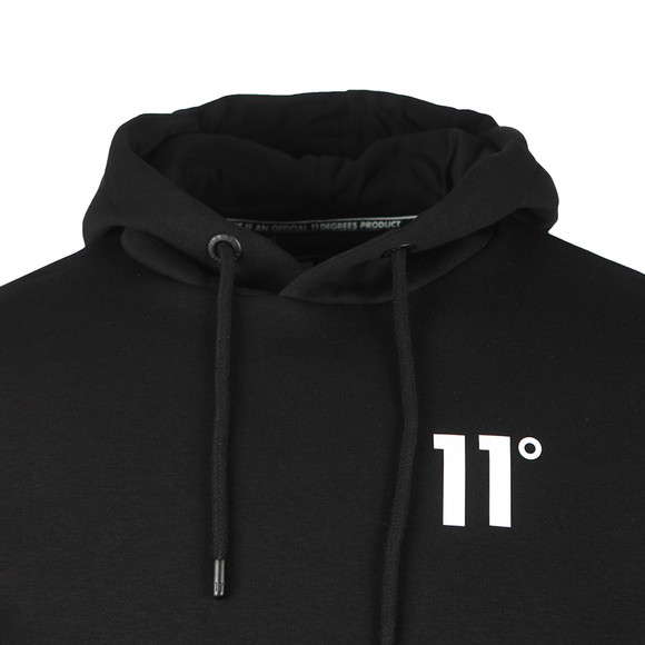 Eleven Degrees Mens Black Core Pull Over Hoody