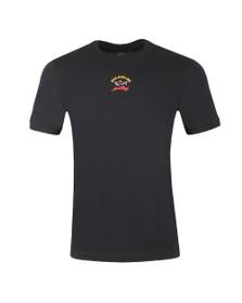 Paul & Shark Mens Black Centre Logo T-Shirt