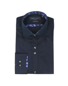 Guide London Mens Blue Plain Shirt
