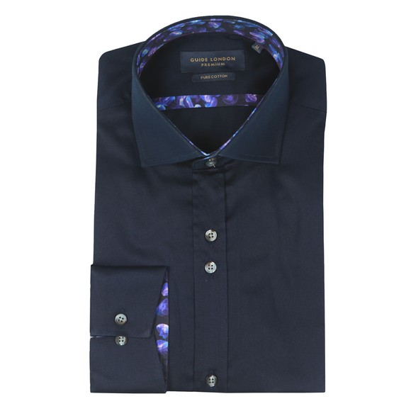 Guide London Mens Blue Plain Shirt main image