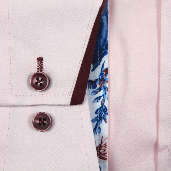 Guide London Mens Pink Tipped Collar Shirt main image
