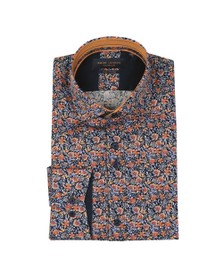 Guide London Mens Orange Floral Shirt
