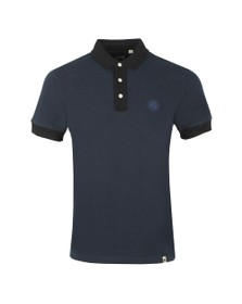Pretty Green Mens Blue Heavy Weight Polo