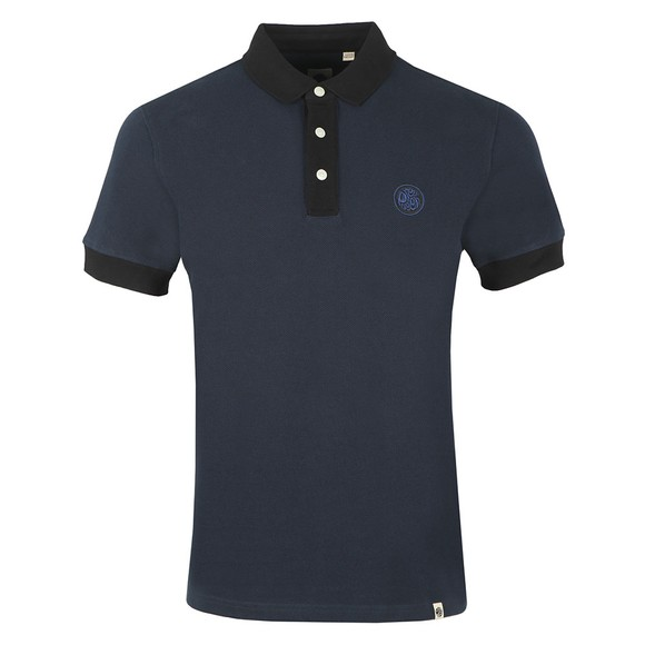 Pretty Green Mens Blue Heavy Weight Polo main image