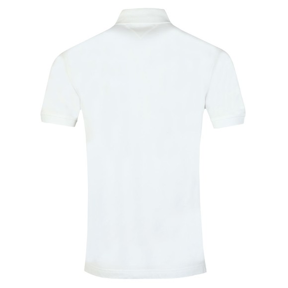 Tommy Hilfiger Mens White Logo Embroidery Polo main image