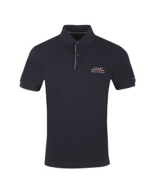Tommy Hilfiger Mens Blue Logo Embroidery Polo