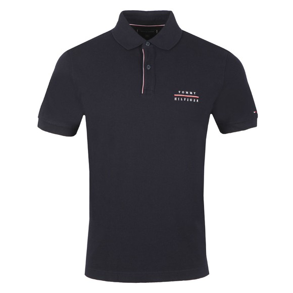 Tommy Hilfiger Mens Blue Logo Embroidery Polo main image