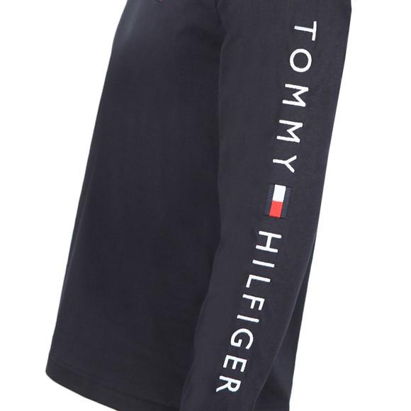 Tommy Hilfiger Mens Blue L/S Logo Tee main image