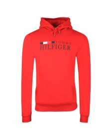 Tommy Hilfiger Mens Red Basic Hilfiger Hoody