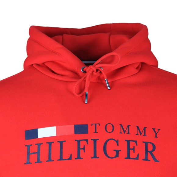 Tommy Hilfiger Mens Red Basic Hilfiger Hoody main image