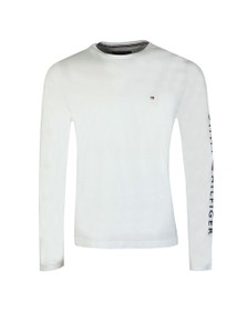 Tommy Hilfiger Mens White L/S Logo Tee