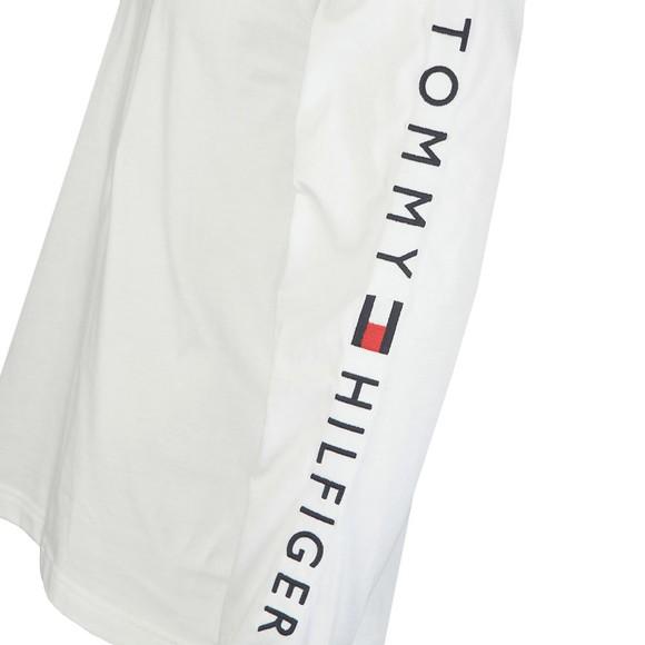 Tommy Hilfiger Mens White L/S Logo Tee main image