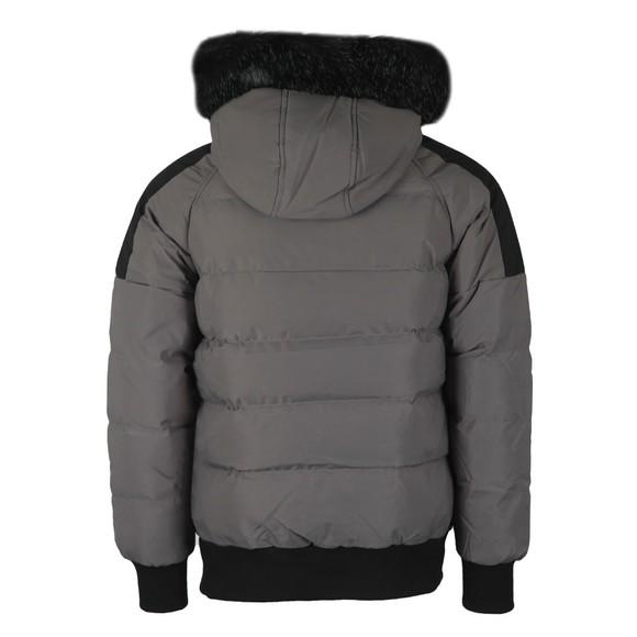Kings Will Dream Mens Grey Branton Fur Trim Jacket main image