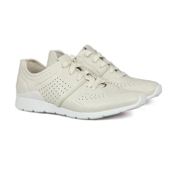 Ugg Womens Off-White Tye Trainer