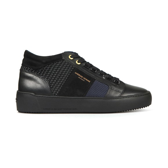 Android Homme Mens Black Propulsion Mid Gloss Woven Stretch Trainer