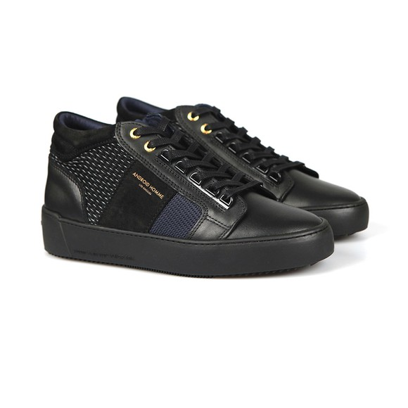 Android Homme Mens Black Propulsion Mid Gloss Woven Stretch Trainer main image