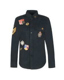 Polo Ralph Lauren Womens Black Crest Military Shirt