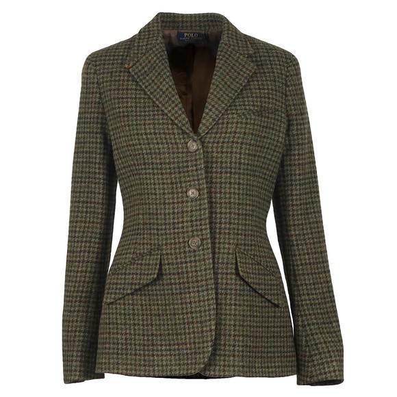 Polo Ralph Lauren Womens Green Vintage Custom Riding Jacket