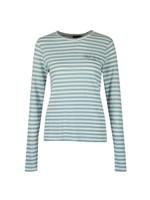 Stripe Crew Neck Long Sleeve T Shirt