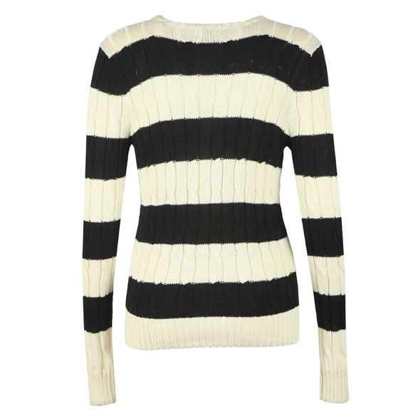 Polo Ralph Lauren Womens Off-White Julianna Large Logo Cable Jumper main image