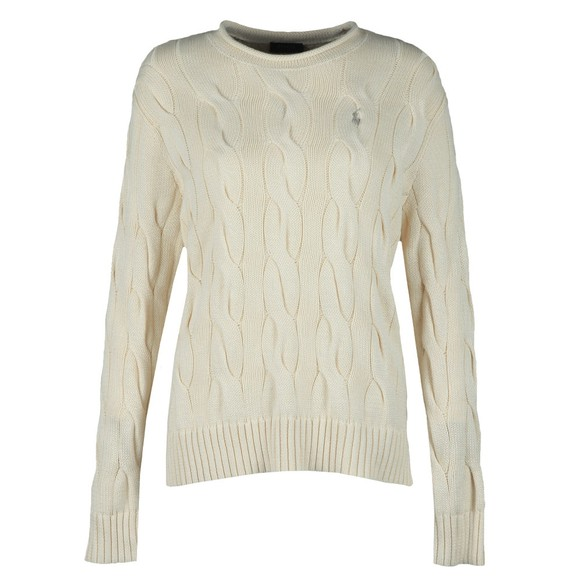 Polo Ralph Lauren Womens Off-White Boxy Roll Neck Classic Jumper