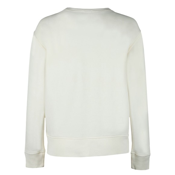 Polo Ralph Lauren Womens Off-White Crew Neck Sweat With Side Zip main image