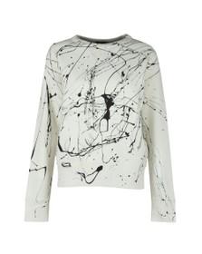 Polo Ralph Lauren Womens Nevis Paint Splatter Crew Sweatshirt