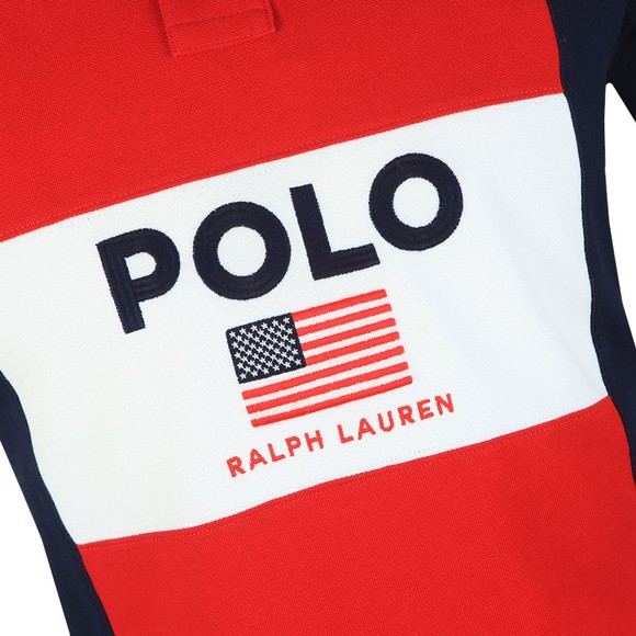 Polo Ralph Lauren Mens Red Polo Flag Polo Shirt