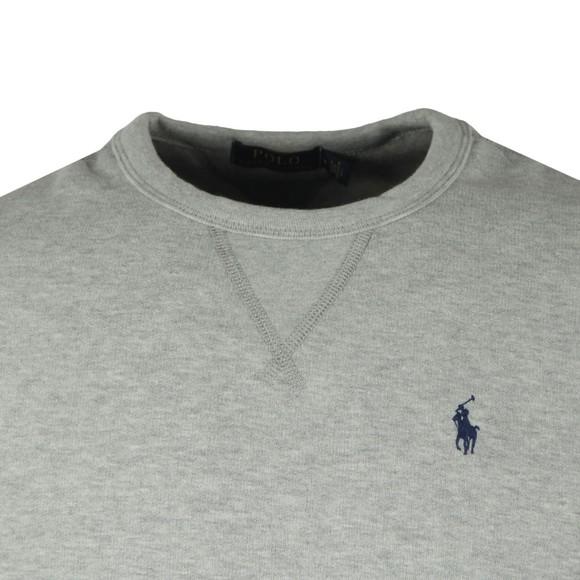 Polo Ralph Lauren Mens Grey Fleece Crew Neck Sweatshirt