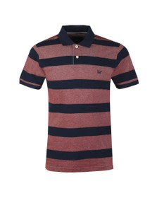 Crew Clothing Company Mens Red Oxford Polo