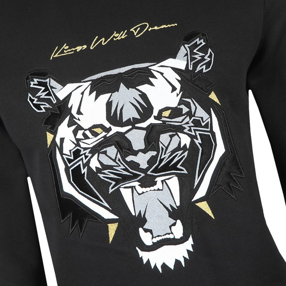 Kings Will Dream Mens Black Demon Velour Sweatshirt main image