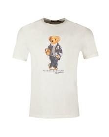 Polo Bear By Ralph Lauren Mens Off-White New Football Bear T Shirt