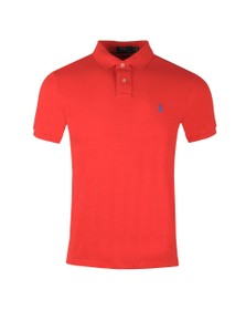 Polo Ralph Lauren Mens Red Slim Fit Polo Shirt