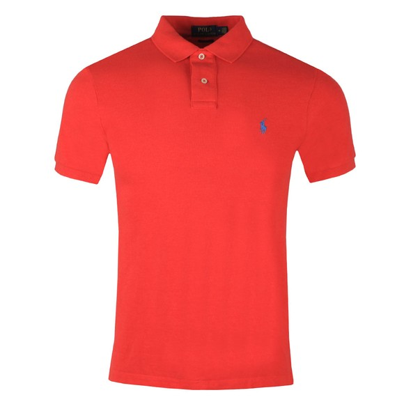 Polo Ralph Lauren Mens Red Slim Fit Polo Shirt