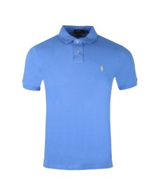 Polo Ralph Lauren Mens Cabana Blue Slim Fit Polo Shirt