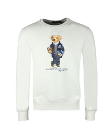 Polo Bear By Ralph Lauren Mens White New Football Bear Sweatshirt