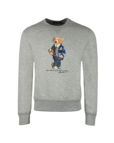 Polo Bear By Ralph Lauren Mens Grey New Football Bear Sweatshirt