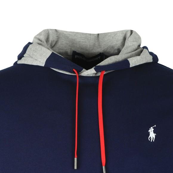 Polo Ralph Lauren Mens Blue Polo 1967 Long Sleeve Hooded T Shirt