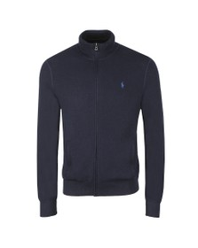 Polo Ralph Lauren Mens Blue Waffle Full Zip Knit