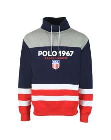 Polo Ralph Lauren Mens Grey Polo 1967 Funnel Neck Sweatshirt