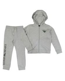 Emporio Armani Boys Grey Boys Outline Logo Tracksuit