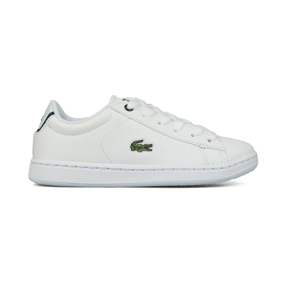 Lacoste Boys White Boys Carnaby Evo Lace Trainer