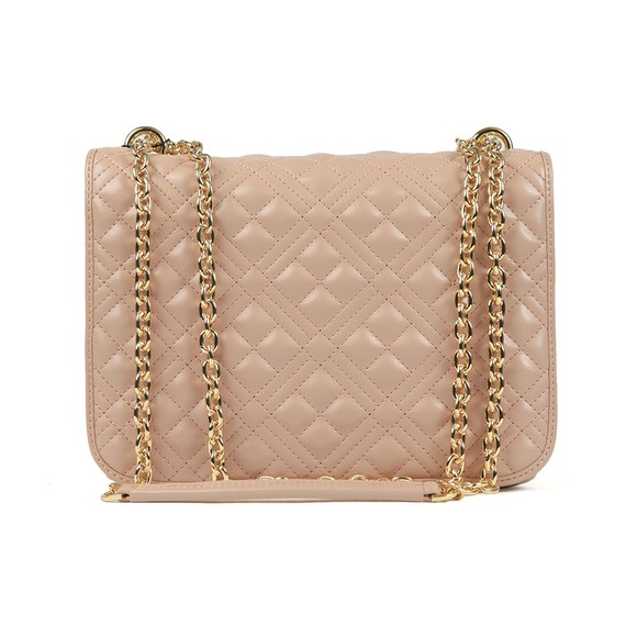 Love Moschino Womens Pink Cross Quilted Small Bag main image