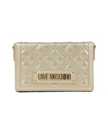 Love Moschino Womens Gold Cross Quilted Clutch bag