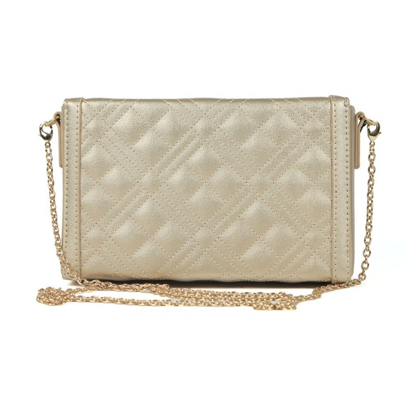 Love Moschino Womens Gold Cross Quilted Clutch bag main image