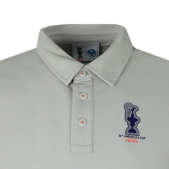North Sails 36th Americas Cup presented by PRADA Mens Grey Valencia Polo Shirt