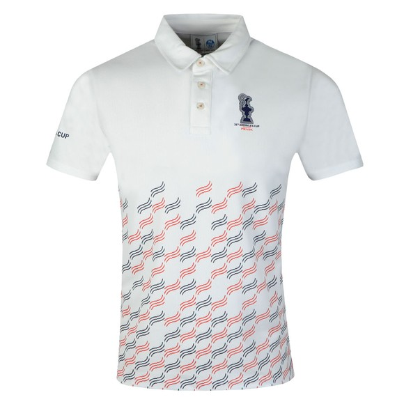 North Sails 36th Americas Cup presented by PRADA Mens White Valencia Polo Shirt