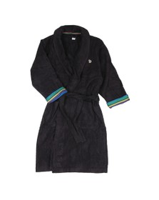 Paul Smith Mens Black Multi Stripe Dressing Gown