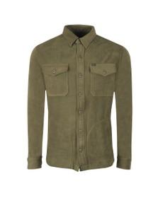 Polo Ralph Lauren Mens Green Fleece Overshirt